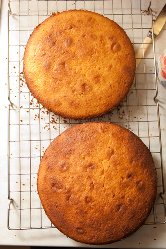 Cooked cakes
