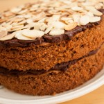 Simple Chocolate and Almond Sponge Cake
