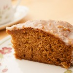 Slice of Honey, Lemon, and Spice Cake