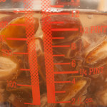 Dates added to 8 fl oz of boiling water in a pyrex glass jug.