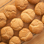 Grantham Gingerbreads cooling off on a wire rack after cooking.