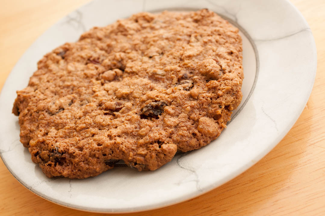 A Breakfast Cookie on a plate.