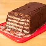 Kalter Hund no-bake chocolate cake